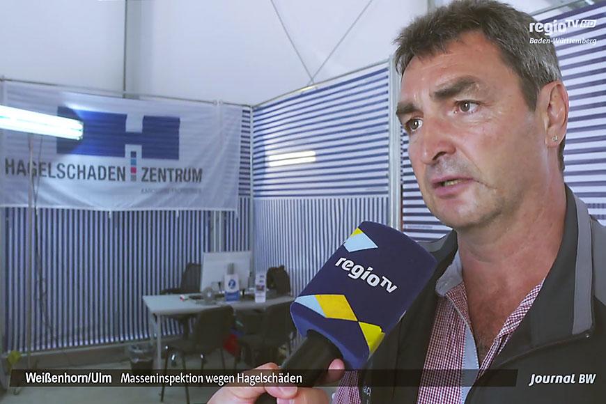 REGIO-TV: Hagelschaden-Zentrum in Senden und Weißenhorn