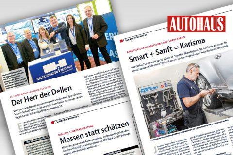 """Großer Bericht im Autohaus Magazin """"Hagel-Branche"""""""