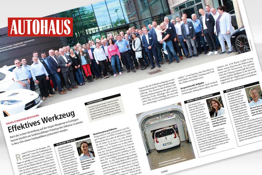 Quantensprung Videmus: Autohaus Magazin berichtet über Prototyp-Präsentation