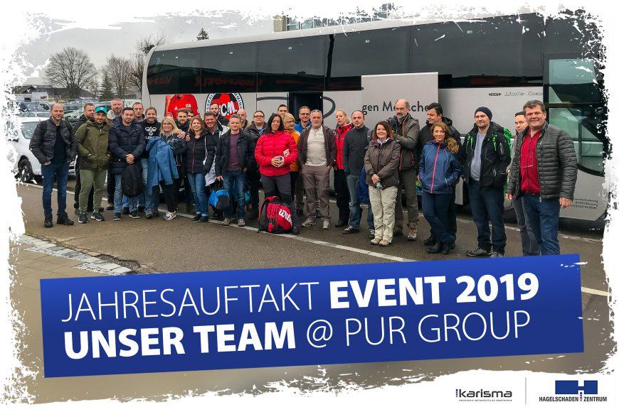 Unser Team erlebte tolles Jahresauftakt-Event 2019