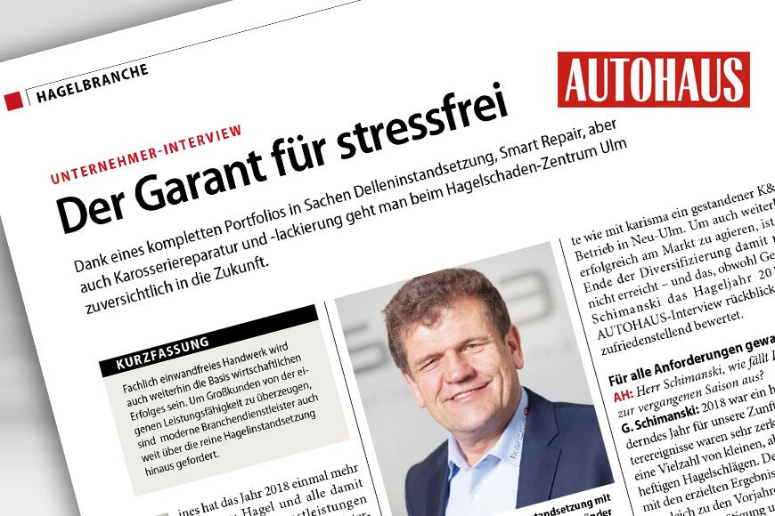 Der Garant für stressfrei – Unternehmer-Interview mit Gerhard Schimanski