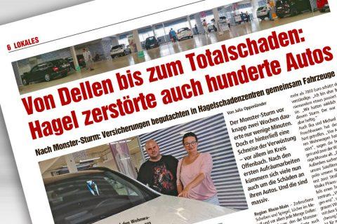 Hagel zerstörte hunderte Autos in Rhein-Main-Region