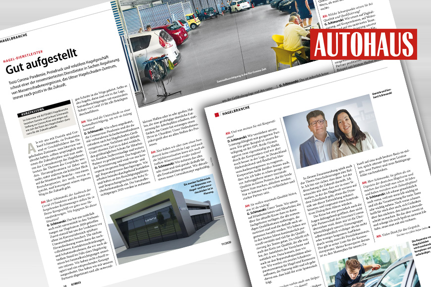 Well positioned – detailed interview with Gerhard Schimanski in AUTOHAUS Hagelbranche 2020
